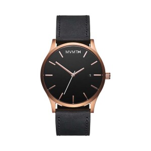 MVMTH Classical Leather Watch In Black
